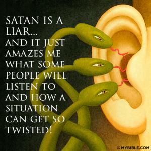 satan is a liar